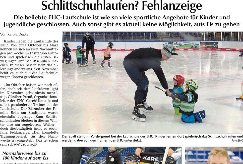 Schlittschuhlaufen Laufschule