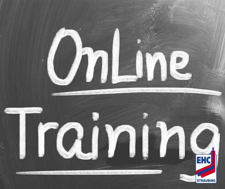 """Tafel mit der Beschriftung """"Online Training"""""""